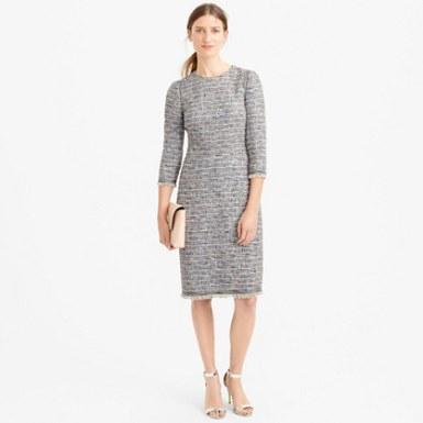 Jcrew Long sleeve tweed dress