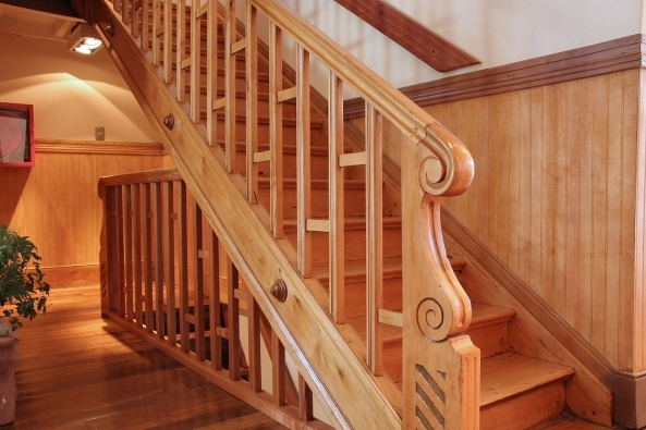 Railing – Custom Wooden Stairs Railing Manufacturers In Brooklyn   Custom Wood Stair Railing   Natural Wood   Barn Beam   Metal Spindle   Attic Stair   Rail
