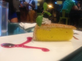 Peach and passion fruit cake