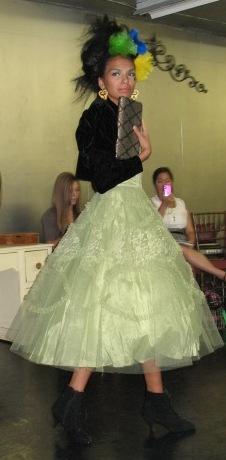 Bohemia and ODP Fall Fashion Show Green Dress