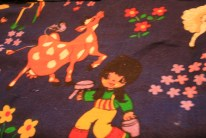 weird seventies fabric and childhood memories