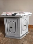 Painted ottoman cabinet