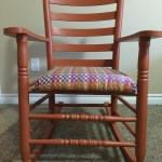 Reupholstered and painted rocker