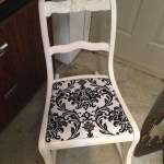 Painted and reupholstered chair