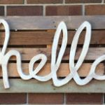 hand made wooden sign