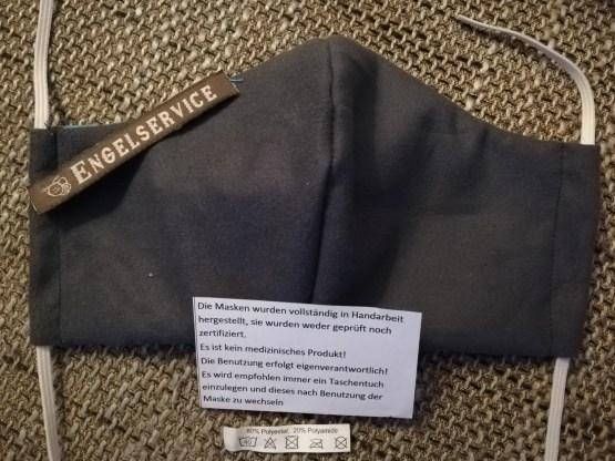 Funktions Mund/Nase Abdeckung grau