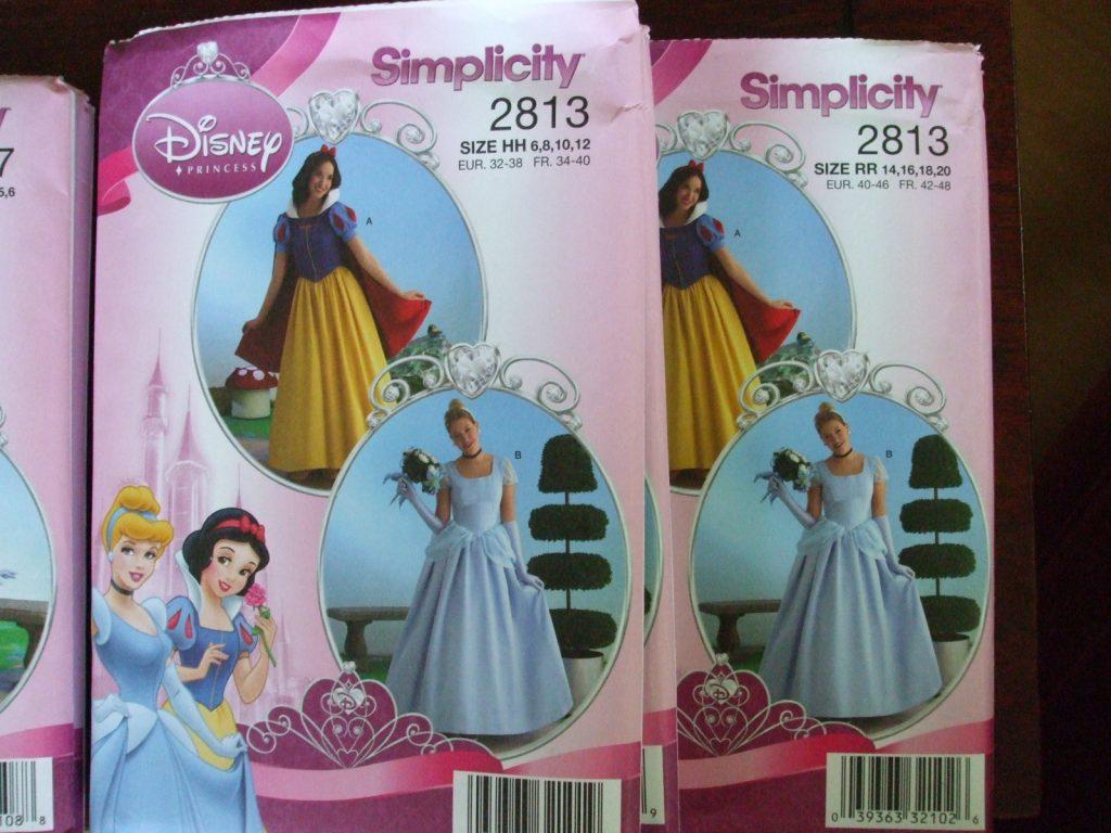 Simplicity 2817 Disney Princesses Costume Dress Sewing Pattern sz 7,8,10,12,14