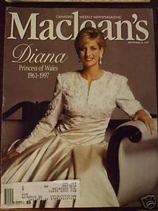Macleans September 8 1997 Princess Diana magazine book