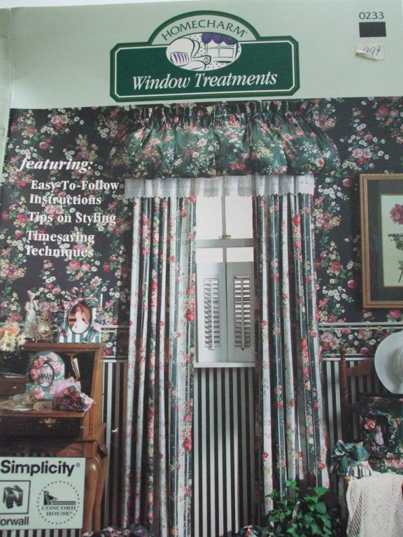 Window Treatments Simplicity Sewing Pattern Book Curtains