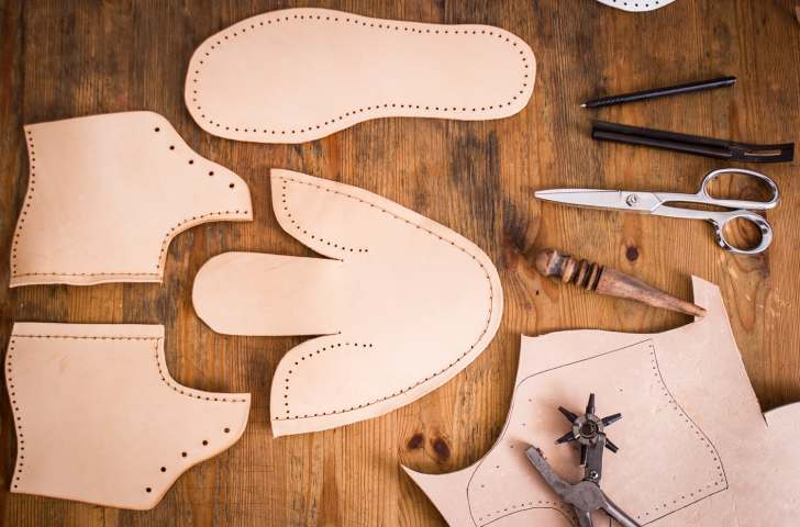 making boots cutting out