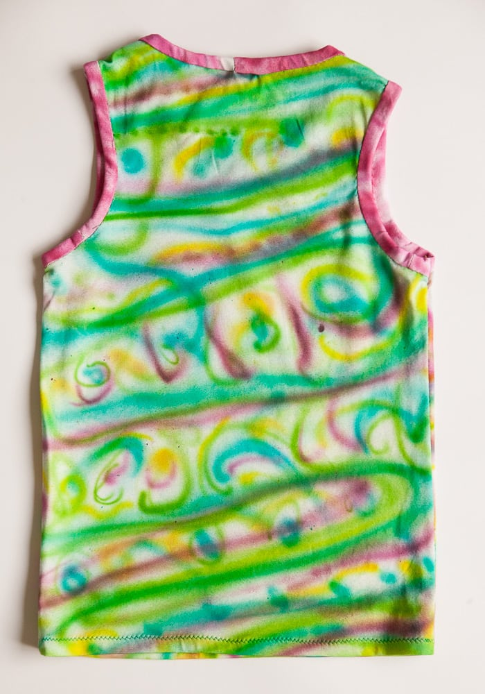 Airbrush painted tank top back