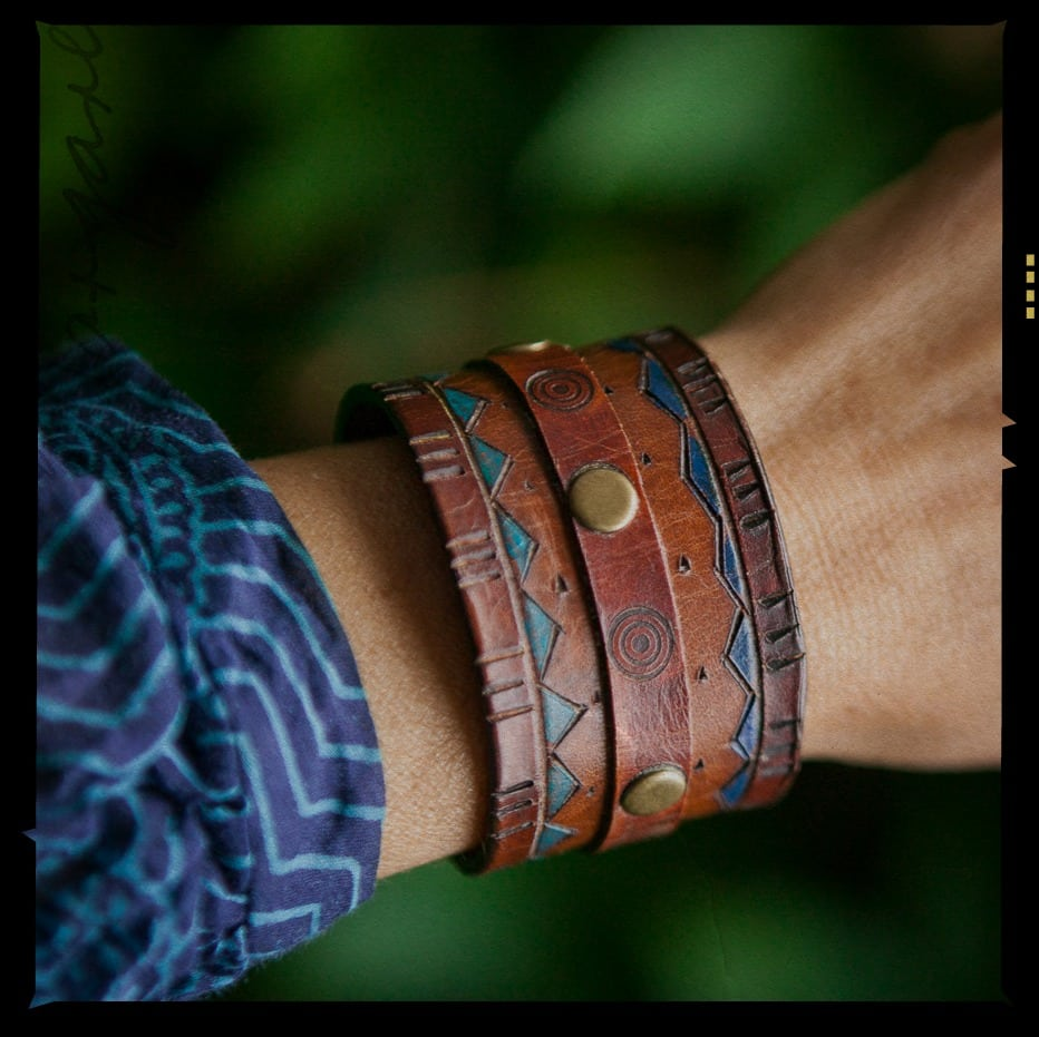1cab2cb09c5 Making Leather Cuff Bracelets – Tips How To Make Them
