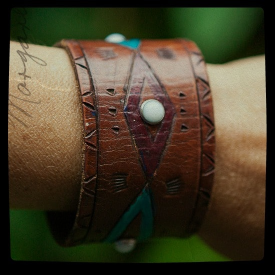 leather bracelet diy