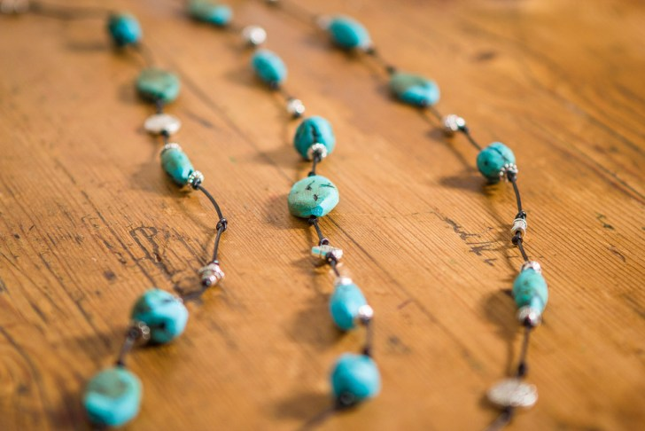 turquoise clay bead necklace diy