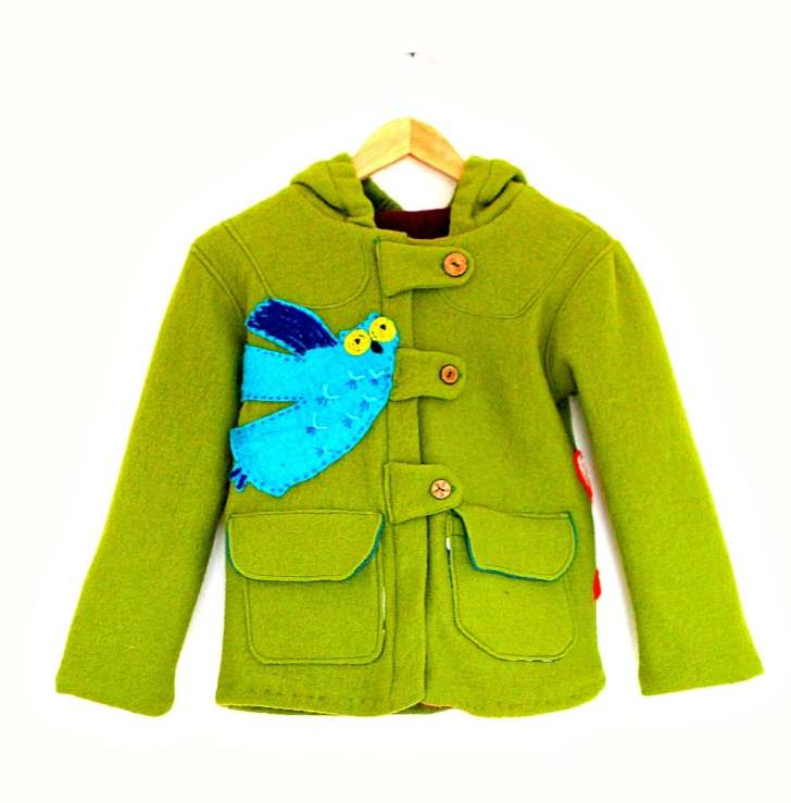 4d2e1c171 Children s Wool Coat With Felt Applique - Making Fun Clothes For Boys