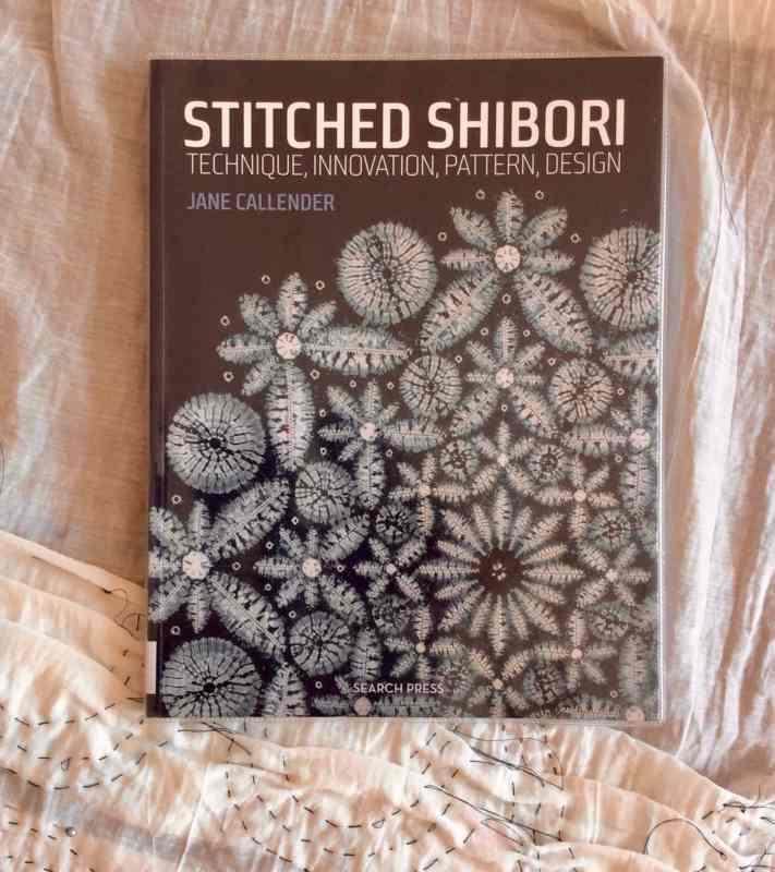 make stitched shibori flower