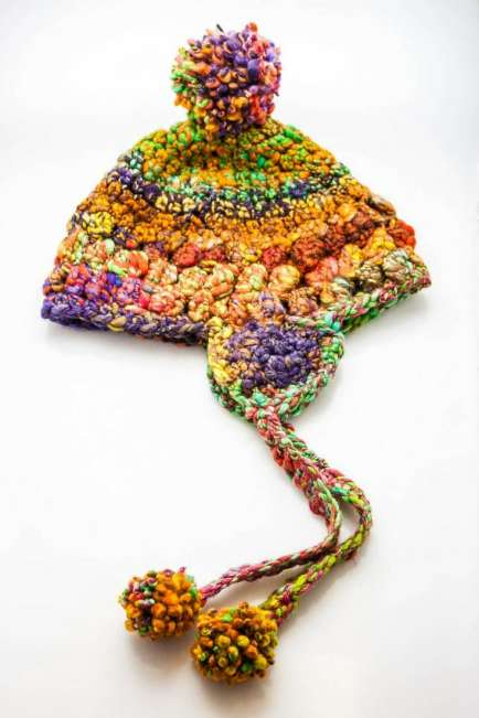 Handspun Crocheted Hat - Pdf Pattern