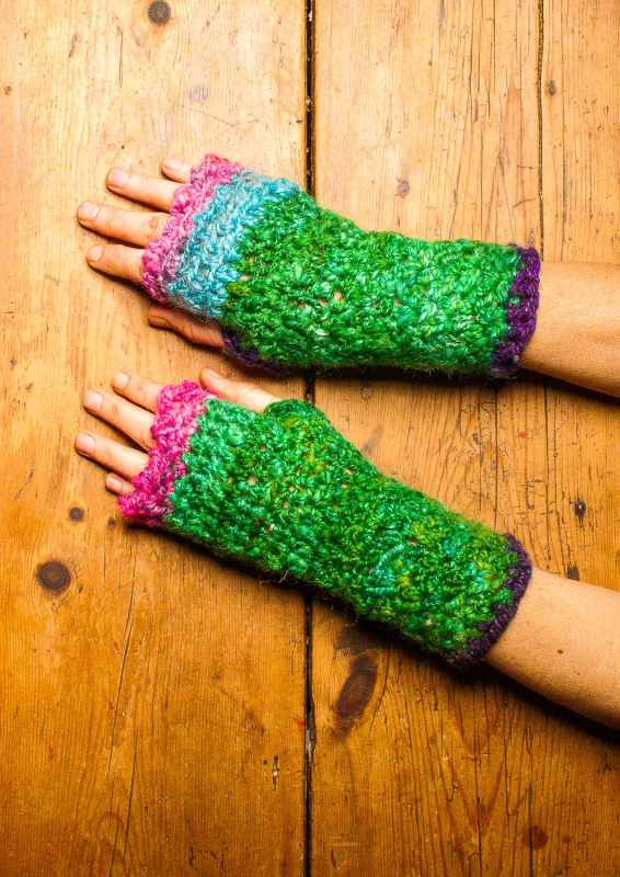 fingerless mittens crochet pattern