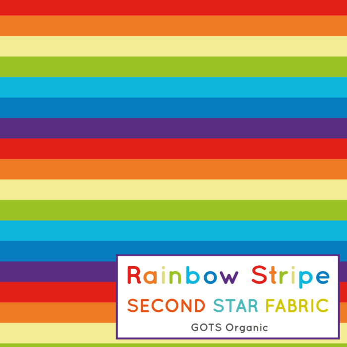 rainbow stripe jersey fabric