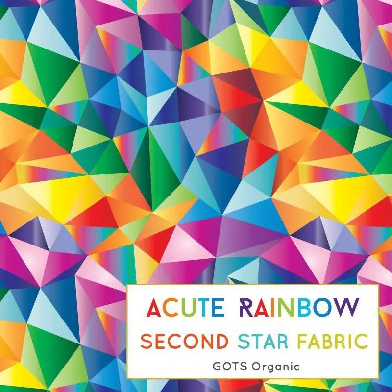 Rainbow jersey fabric