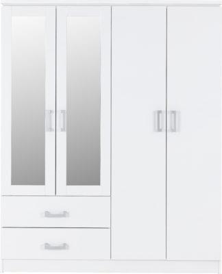 charles 4 door 2 drawer mirrored