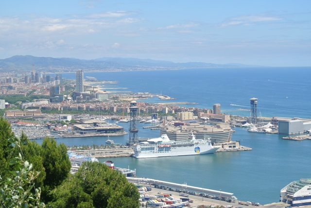 view over Barcelona harbour