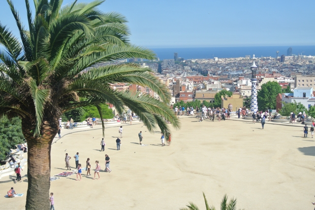 view over Park Guell