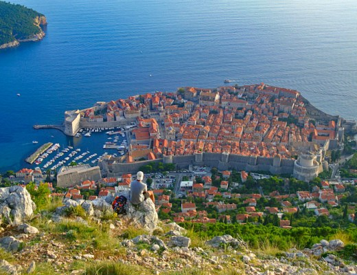 View over Old Town in Dubrovnik
