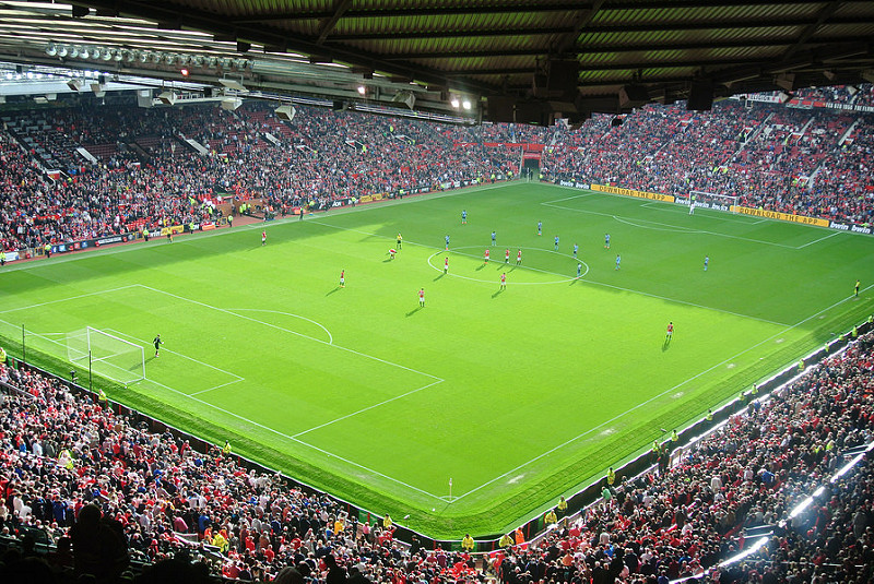 Trafford stadium in Manchester