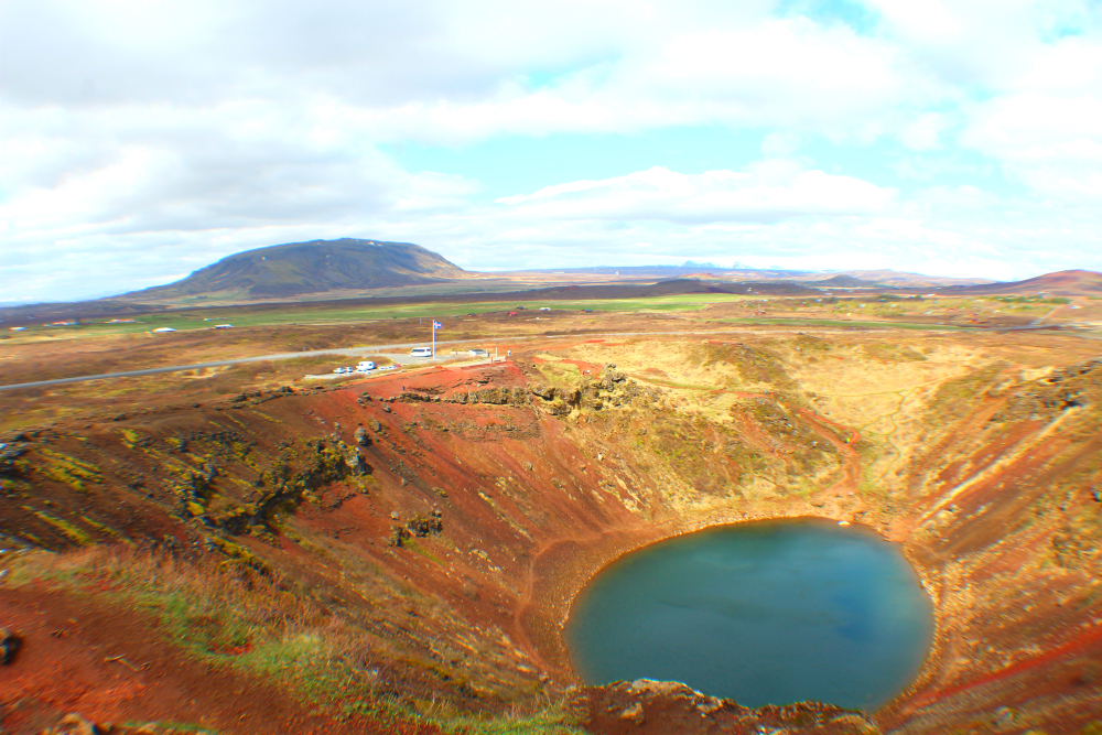 Kerið volcanic crater in Iceland