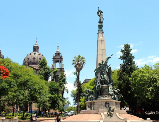 The historic centre in Porto Alegre