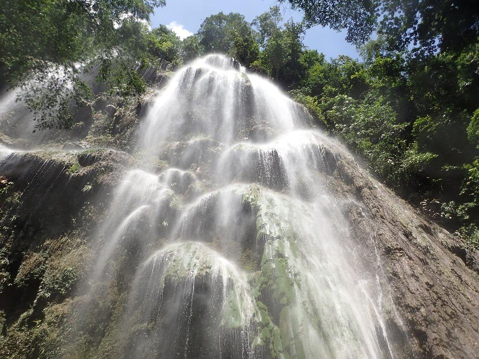 Tumalog Falls in Oslob, Cebu