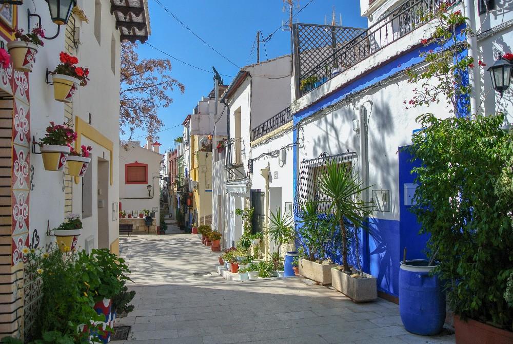 Barrio Santa Cruz in Alicante