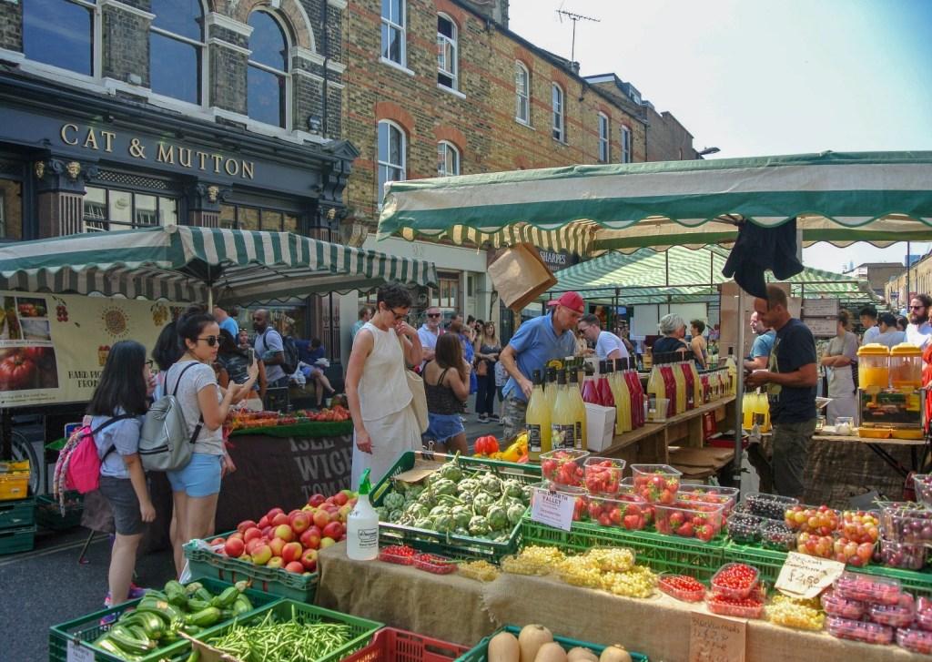 Broadway market in London