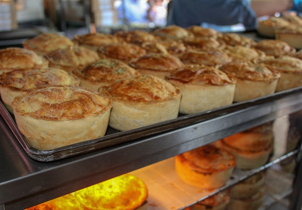 Pies at Borough Market London