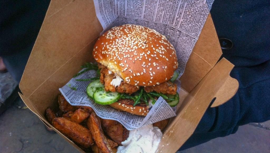 shrimp burger in London