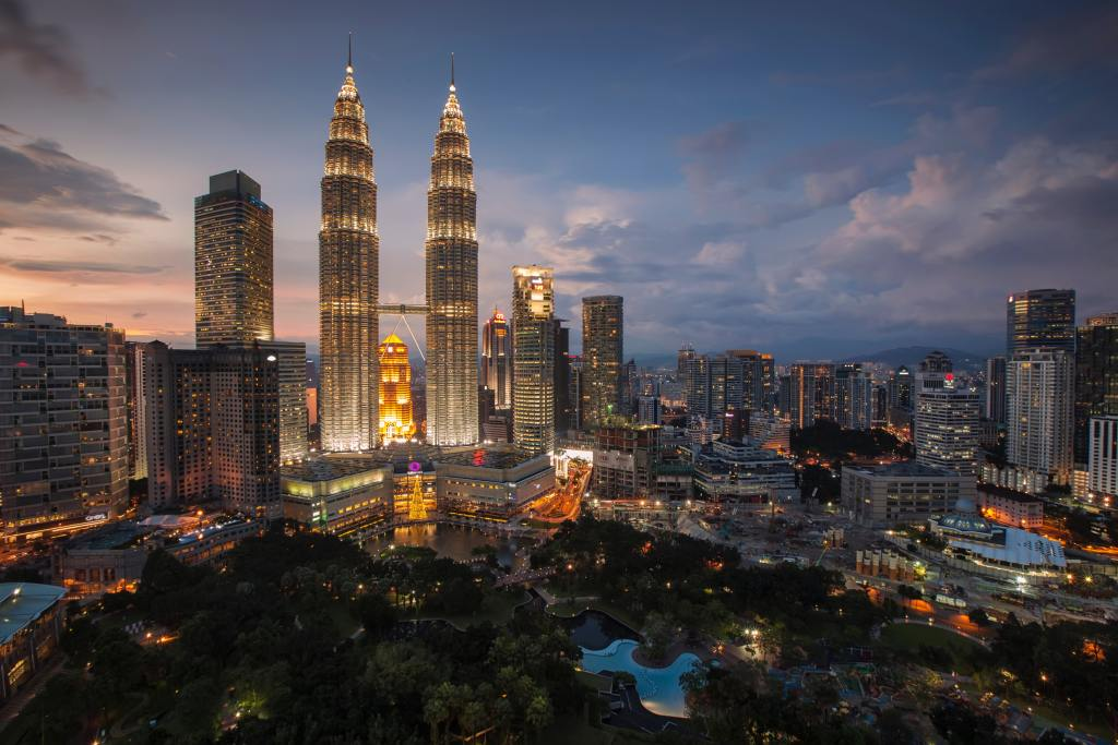 View over Kuala Lumpur, Malaysia