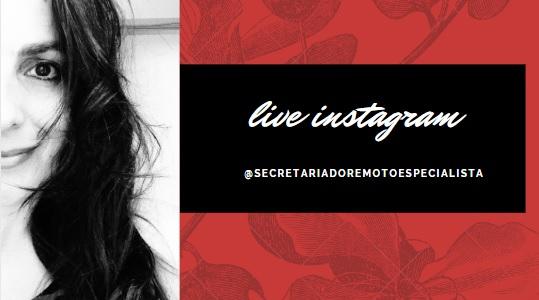 capa instagram - [Live Instagram] Live Instagram Secretariado Remoto Especialista