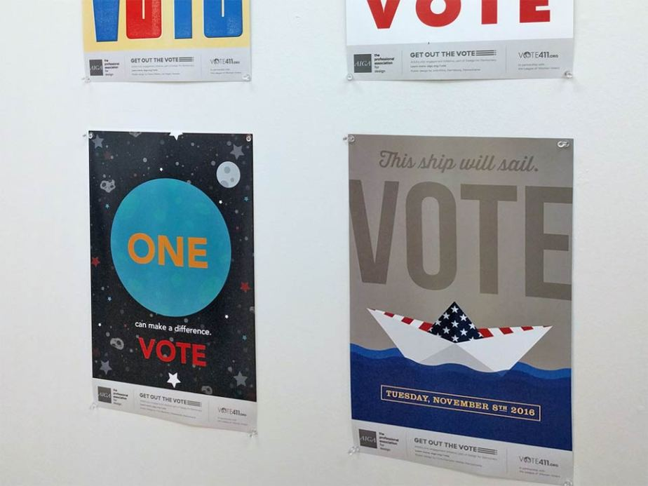 AIGA Get Out The Vote Poster Exhibit