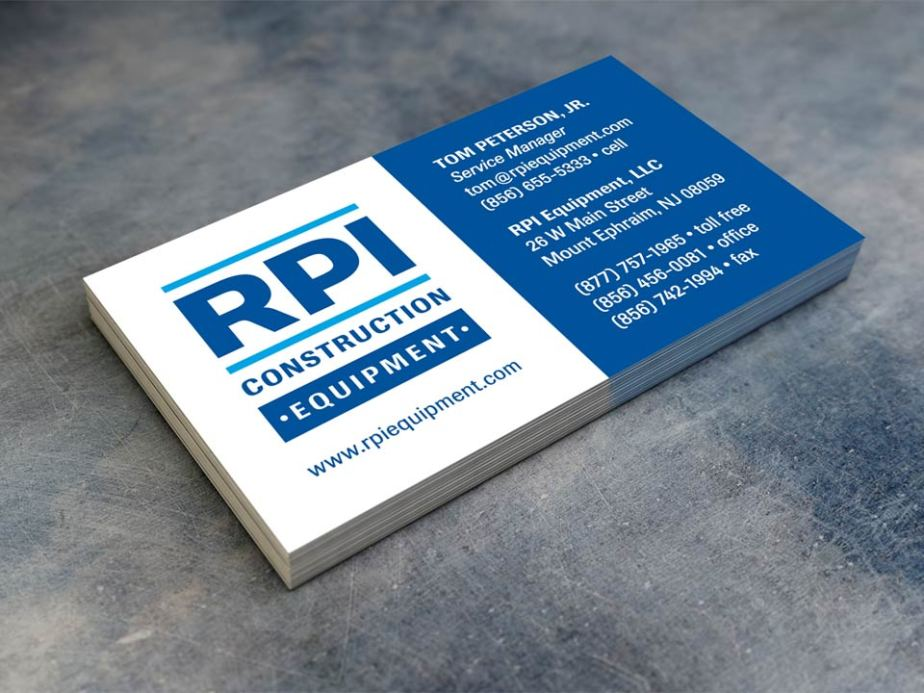 RPI Construction Equipment Business Card