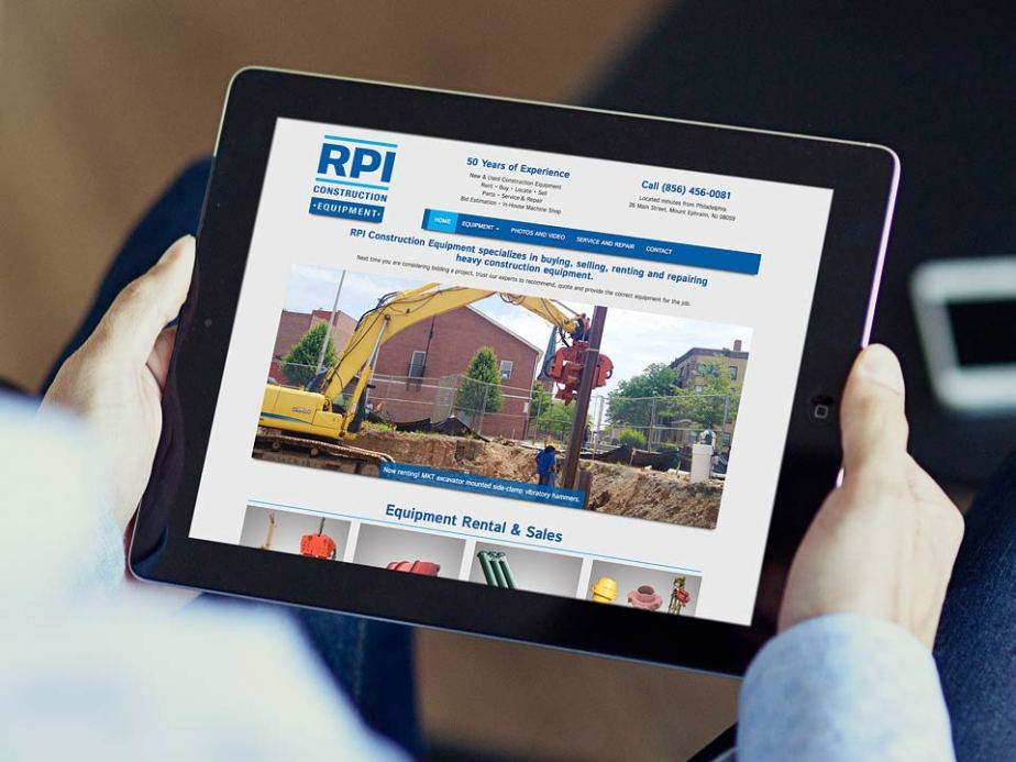 RPI Construction Equipment Responsive Website