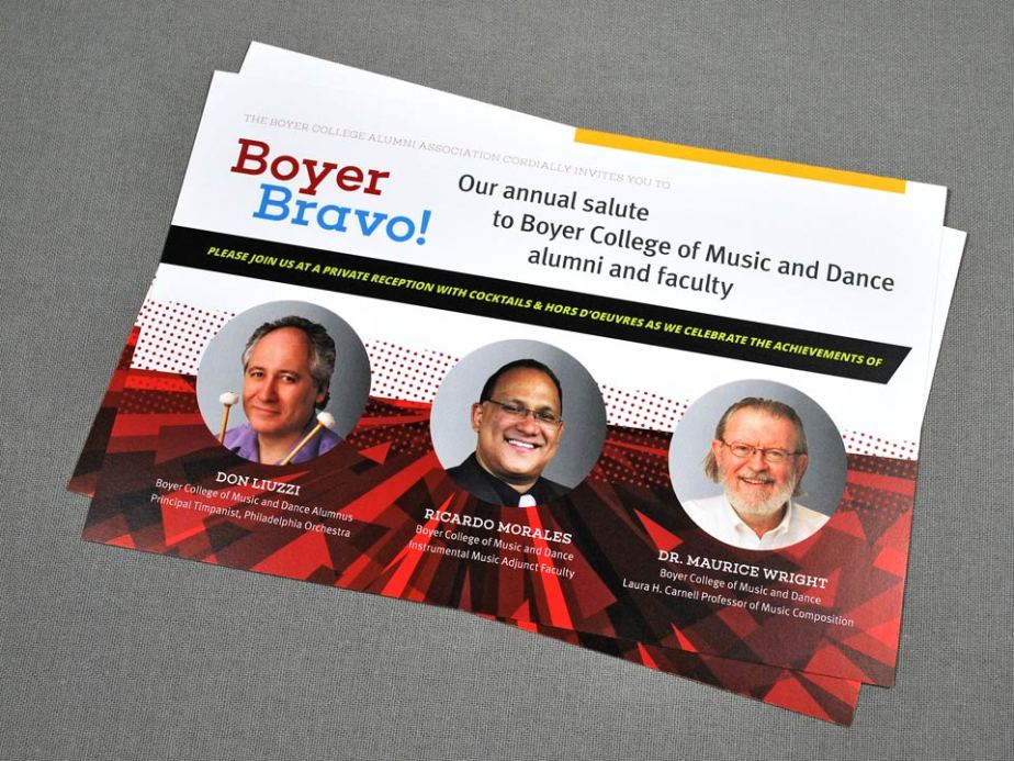 Temple University Boyer Bravo Postcard