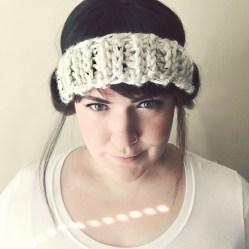 cream headband
