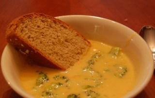 Black-Eyed Pea Broccoli-Cheese Soup Recipe