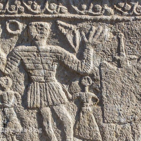Decoration relief at stecak monument at Radimlja