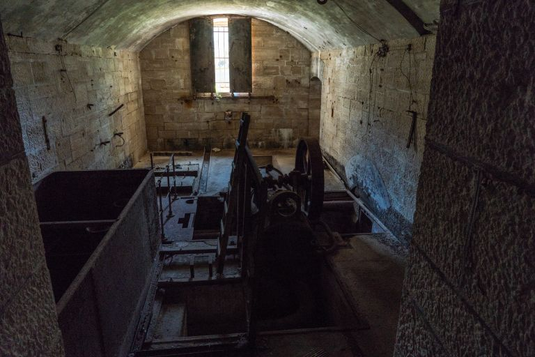 Part of the power generator room with original machinery
