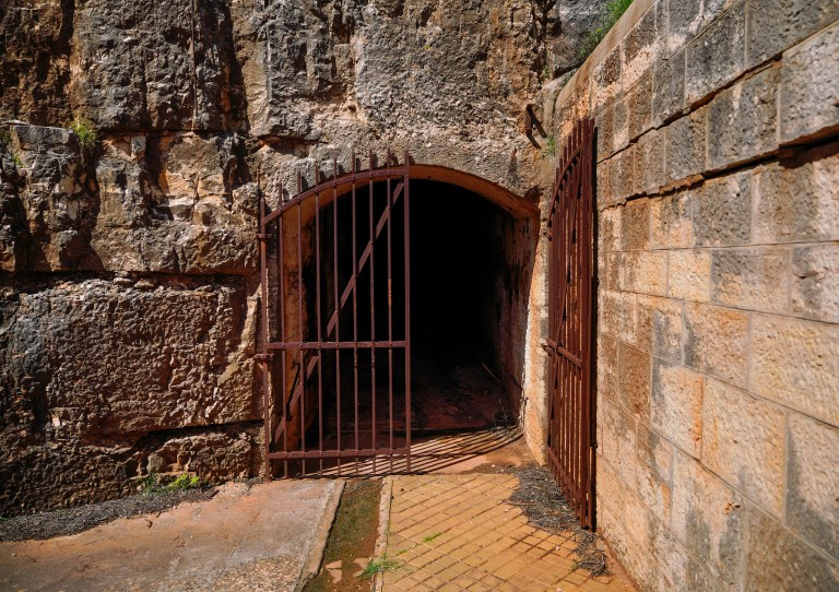 Entering ammunition depots at Brioni Minor fortress