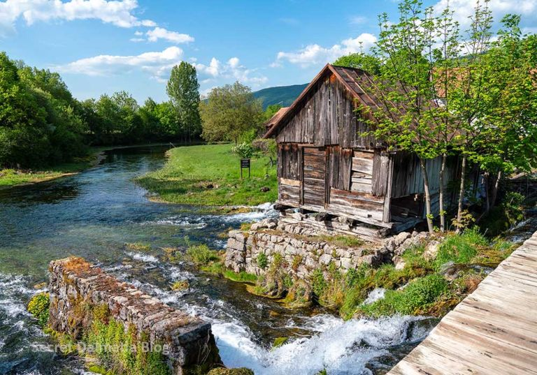 Mill at Gacka river in Croatia