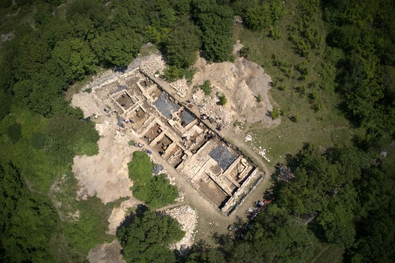 Nadin archaeology site from the air