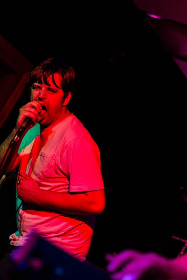 A snarling Andrew Waterman of Monsterbator, Photo by Mike Heffernan, 2014.